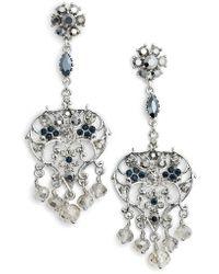 Badgley Mischka - Vintage Chandelier Earrings - Lyst