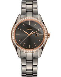 Rado - Hyperchrome Automatic Diamond Ceramic Bracelet Watch - Lyst
