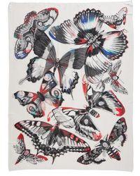 Alexander McQueen - Giant Kaleidoscope Wings Plaid Scarf - Lyst