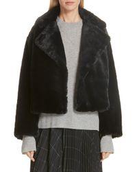 Vince - Plush Faux Fur Coat - Lyst