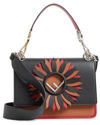 Fendi - Kan I Century Mix Calfskin Leather Shoulder Bag - - Lyst