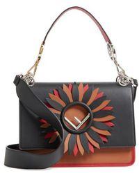 Fendi - Kan I Century Mix Calfskin Leather Shoulder Bag - Lyst