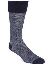 Calibrate - Quatrefoil Solid Socks - Lyst