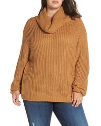 c443f7c2f Lyst - Leith Oversize Turtleneck Sweater in Blue