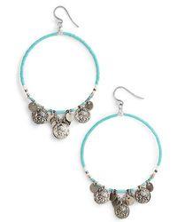 Chan Luu - Coin Hoop Earrings - Lyst