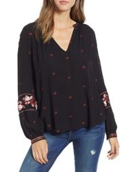 Amuse Society - Campanilla Embroidered Woven Top - Lyst