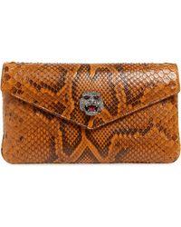 048cc11919681f Gucci Broadway Microssima Leather Evening Clutch in Purple - Lyst