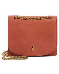 Madewell - Leather Crossbody Wallet - Burgundy - Lyst