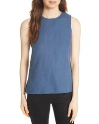 Majestic Filatures - Lace-up Linen Top - Lyst