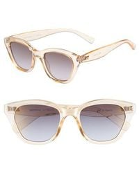 Le Specs - Wannabae 49mm Angular Sunglasses - Blonde - Lyst