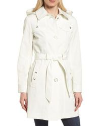 Gallery - Belted Trench Raincoat - Lyst
