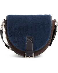 JW Anderson - Bike Genuine Shearling & Leather Shoulder Bag - - Lyst