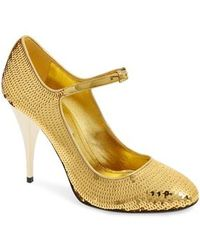 Miu Miu - Sequin Mary Jane Pump - Lyst