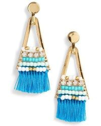 Rebecca Minkoff | Geo Tassel Chandelier Earrings | Lyst