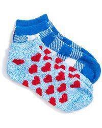 Make + Model - 2-pack Plush Low Cut Socks, Blue - Lyst