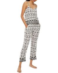 TOPSHOP - Embroidered Pajama Pants - Lyst