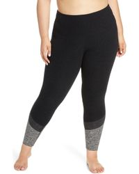 886fb24983c4f6 Beyond Yoga High Waist Stirrup Leggings in Black - Lyst