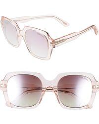 b9292f490c Lyst - Tom Ford Holt 54mm Polarized Sunglasses - Dark Havana  Green ...