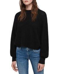 AllSaints - Gene Blouson Merino Wool Sweater - Lyst