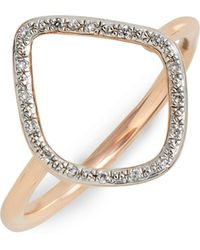 Monica Vinader - Riva Diamond Hoop Ring - Lyst