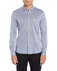 Ted Baker - Timothy Slim Fit Cotton Jersey Shirt - Lyst