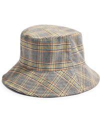 TOPSHOP Plaid Bucket Hat