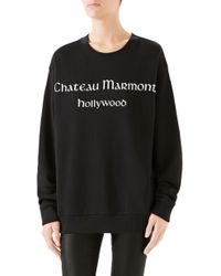 Gucci - Chateau Marmont Cotton Jersey Sweatshirt - Lyst
