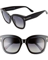 7466497ec1c2 Tom Ford - Beatrix 52mm Polarized Sunglasses - - Lyst