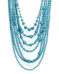 Natasha Couture - Big Bertha Beaded Multistrand Necklace - Lyst