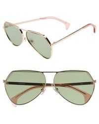 Wildfox - Taj 62mm Oversize Aviator Sunglasses - - Lyst