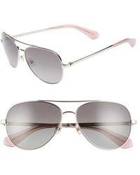 Kate Spade - Avaline 2/s 58mm Polarized Aviator Sunglasses - Lyst