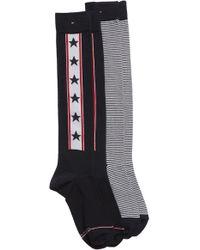 Tommy Hilfiger - 2-pack Knee High Socks, Blue - Lyst