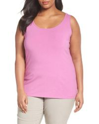 NIC+ZOE - Perfect Scoop Neck Tank - Lyst