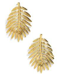 BaubleBar - Esper Palm Leaf Drop Earrings - Lyst