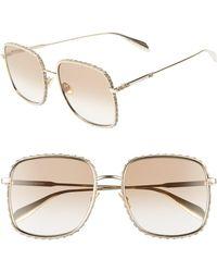 Alexander McQueen - 57mm Gradient Square Sunglasses - Lyst