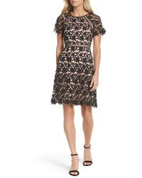 Adrianna Papell | Ava Lace Sheath Dress | Lyst