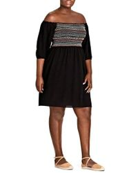 City Chic - Makana Off The Shoulder Dress - Lyst