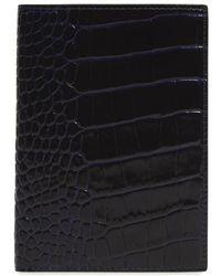 Smythson - Mara Croc Embossed Leather Passport Case - Lyst