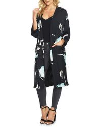 1.STATE - Floral Print Collarless Jacket - Lyst