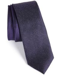 Calibrate | Kenton Textured Silk Blend Skinny Tie | Lyst
