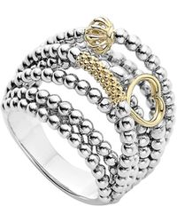 Lagos - 'caviar Icon' Multi-row Dome Ring - Lyst