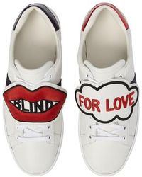 Gucci - Blind For Love New Ace Sneaker - Lyst