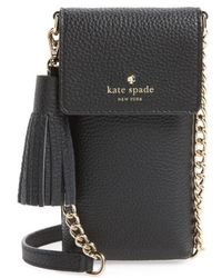 Kate Spade - North/south Leather Smartphone Crossbody Bag - Lyst