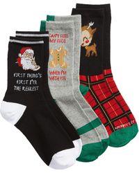 Sockart - Holiday Realest 3-pack Crew Socks - Lyst
