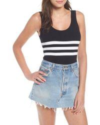 Kendall + Kylie - Stripe Bodysuit - Lyst