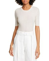 Vince - Elbow Sleeve Cashmere Pullover - Lyst