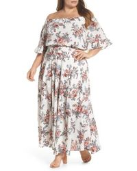 Glamorous | Print Off-the-shoulder Maxi Dress | Lyst