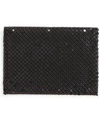 Whiting & Davis - Faux Leather & Mesh Card Case - Lyst