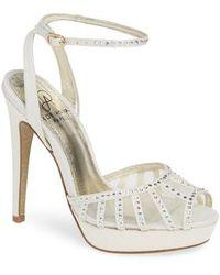 Simone Crystal Stud Detail Ankle Strap Dress Sandals wZcFqp6F