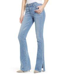 PAIGE - Transcend Vintage - Lou Lou High Waist Flare Jeans - Lyst